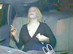 Assai corneo Fat Chubby Party Girl di cumming nel di taxi dalla cabina di guida P3