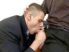 Obscene blowjob for lusty gay