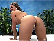 Chanel seduced and fucked hard by her massage therapist