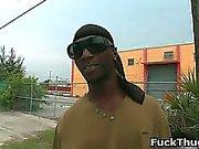 Black thug riding some white gay cock