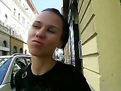 Eurobabe Denise Sky fucked with stranger