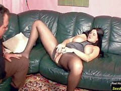 Hairy German MILF in Nylon get Hard Fuck and