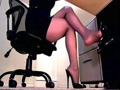 Sexy Sekretärin Upskirt Untertisch