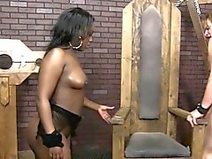 Ebony Babes chat mangé dehors puis doggystyled