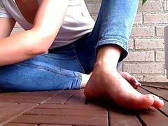 Striptease foot fetish pantyhose blondes