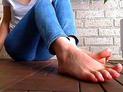 Striptease Fußfetisch Strumpfhosen Blondinen
