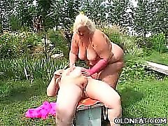 Fat Mature Blonde Toy Fucked