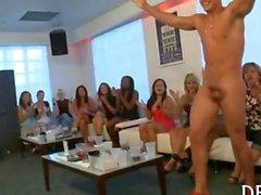 Girls sucking dirty dick of a strip dancer