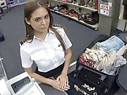 Sweet latina stewardess fucking hard