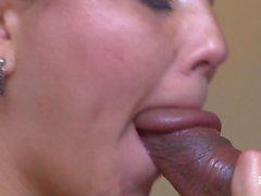SANTA LANTINA - La Latina de för gran Ass Angela Rodriguez muy caliente recibiendo o ansikte