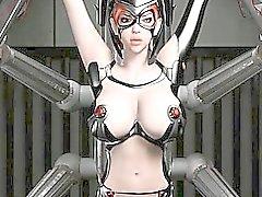Für Anime sex slave auf riesigen Titten erwischt den Ball Nippel geklemmt