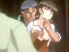 Köyttää animen gets puristettua tissit