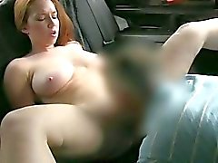 Amateur flashes her big tits and ripped