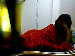 Desi College Girl FKK mit Geliebter im Bed