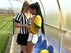 Player Brasile di strappare il l'arbitro
