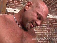 Espárrago atractiva estupenda muscular Chad de Brock estaba en la ciudad visitando