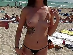 Hot besties shows off bootyon the beach and enjoyed groupsex