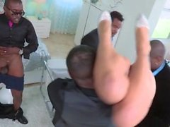 Asa Akira gangbanged by a group of big black dicks
