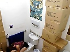 Big boobs amateur fucked in the toilet by pawnkeeper