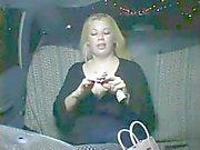 Very Horny Hympho fat Chubby GF masturbating in Taxi-2