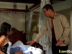 Sexy maid Frida gets caught and ravished