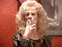 Hot CD Cougar Smoking In Leather II