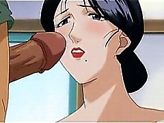 Hentai hottie gets a messy facial and pussy drilled hard