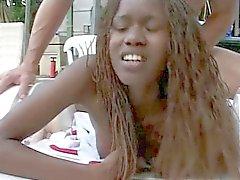 Black Amazon Woman Does Anal