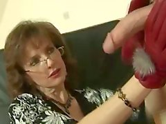 Hot busty BDSM masture mature wanking cock