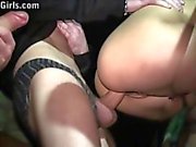 Kitty Jane Big tits girl PUBLIC gangbang