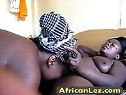 Black lesbians Binah & Kehinde fuck after taking a shower
