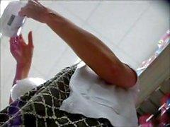 Farklı kız klip kendi up - etek yanakları ile filme alma