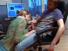 Ivana unzips her boyfriend's jeans and pulls out his nice