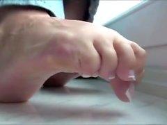 Sexy pouco dedos do pé
