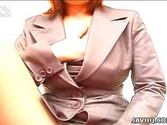 Seksi ofis Hanım Anna Yumisaki masturbating