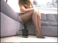 Schwarze Pantyhose jugendlich