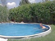 German pool with BBQ Orgy