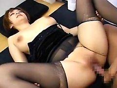 Asian cock likes titjob