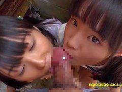 Petite Jav Teen Koulutytöt Rinan ja Asami