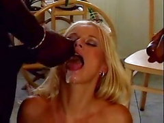 Big Black cock Threesome Gangbang 95