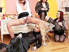 Glam lesbos golden shower
