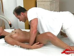 Hot pornstar hardcore and massage