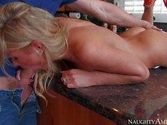 Sex in the kitchen with Fuck hungry Aubrey Addams