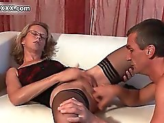 Horny matyre whore gets horny part1