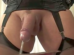 Lonely Tgirl pissing scener