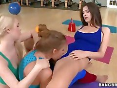 Hot Lesbian Yoga Threesome