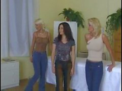 5 lesbians with some dildos at the gynecologist's office