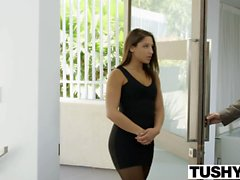 TUSHY Big Butt Teen Abella Danger Ass Fucked to Pay BF Debt