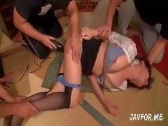 Japanisch Büro Dame Gangbang