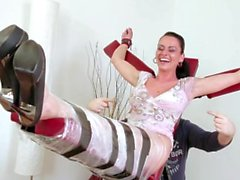 Ticklish MILF Gabriela - F/F, Poor Girl Cries, Sweats and Squeals!